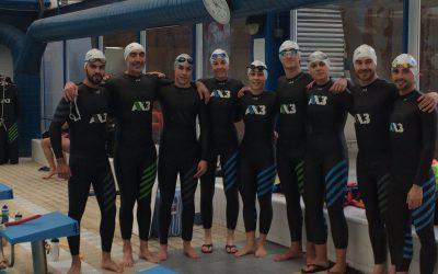 Pruebas en piscina de Neoprenos AX3